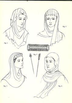 Anglo-Saxon 600-1154 Headdresses