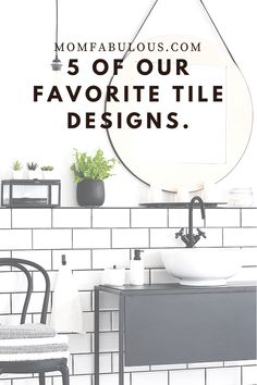 There are plenty of ways to set your tile apart, with both classic and modern takes. To help you plan which is best for you, we've created a list of our 5 favorite tile designs. #MomLife #MomFabulous #Mom #interiordesign #tile #tiledesign #homedecor #home White Square Tiles, White Tiles, Countertop Backsplash, Tile Layout, Keep It Simple, Tile Design, Simple Living, Easy Diy Projects, Organization Ideas