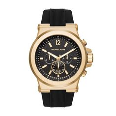 203a86b6e6d9 Dylan Gold-Tone and Silicone Watch · Michael WatchesMichael Kors ...