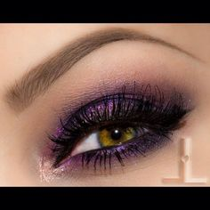 Recreate this look using the following Younique makeup. Prime entire lid. Use Majestic Splurge cream shadow on entire upper lid and lower lash line. On inner corner use Flippant from the Addiction palette 3. In crease use Precious Mineral pigment. Line upper lash line with Perfect eye pencil creating wing. Finish with 3D+ Fiber lash mascara.