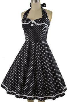 shirley sun dress with matching scarf - black polka dots Polka Dot Print, Polka Dots, Misses Clothing, Hemline, Sun, Summer Dresses, Cotton, Clothes, Black