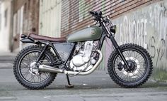 Custom Suzuki GN250 by Marcelo Obarrio This is magnificent.  Not sure about running front fender-less on a bike with knobby tires, though.  I wouldn't be able to resist heading offroad...