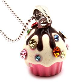The Sweet Treat Emporium - Strawberry Cupcake Crystal Sprinkles Girls Necklace, $9.95 (http://www.thesweettreatemporium.com.au/strawberry-cupcake-crystal-sprinkles-girls-necklace/)