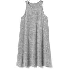 Gap Women Softspun A Line Tank Dress ($60) ❤ liked on Polyvore featuring dresses, light grey marle, petite, tank dresses, tanktop dress, petite dresses, petite a line dresses and marled dress
