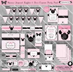 Minnie Mouse Baby Shower Decorations by The Party Stork. Printable Baby Girl Shower Party Package. Party Pack is non personalized. Comes as shown.