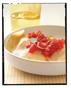 Crab-and-Goat Cheese Wonton Ravioli with Tomato Sauce