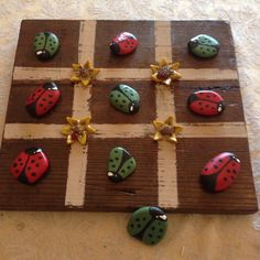 Polymer clay tic tac toe