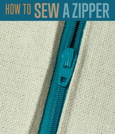 DIY Sewing Projects | How to Sew a Zipper - Zippers | Tutorial and Step by Step Instructions with photos that show you how to easily add zippers to your favorite DIY sewing projects