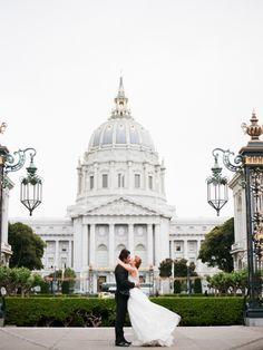 Wedding photos at city hall... Love sf