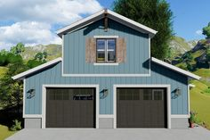Boat Storage Garage Plan with Apartment.- Boat Storage Garage Plan with Apartment Above - 1 Bedroom House, 1 Bedroom Apartment, Barn With Apartment, Garage Apartment Plans, Garage Apartments, Garage Design, House Design, Pole Barn Garage, Pole Barns