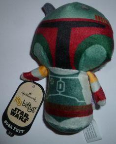 Hallmark Disney Star Wars Boba Fett Empire Strikes Back Itty Bittys Bitty New!!