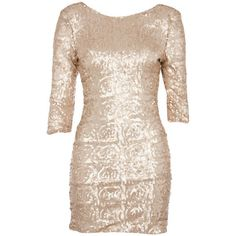 Nude Sequin Low Back Zip Dress (€28) ❤ liked on Polyvore featuring dresses, vestidos, chiffon dresses, floral print dress, floral dresses, pink sequin cocktail dress and floral cocktail dresses
