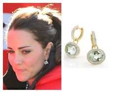Kate has often been pictured wearing her Kiki McDonough green amethyst drop earrings whilst on the tour.