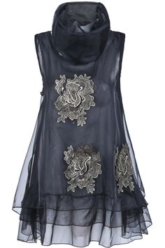 Embroidered Organza  LBD~