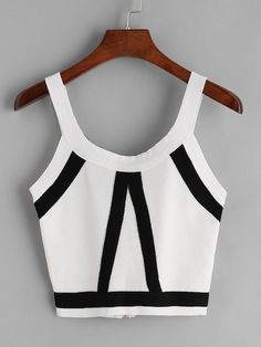 Shop Striped Zipper Back Knit Crop Tank Top online. SheIn offers Striped Zipper Back Knit Crop Tank Top & more to fit your fashionable needs. Look Fashion, Teen Fashion, Fashion Outfits, Womens Fashion, Cropped Tank Top, Crop Tank, Tank Tops, Casual Summer Outfits, Cool Outfits