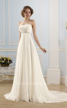 Cheap vestido de noiva, Buy Quality de noiva directly from China strapless wedding gown Suppliers: Beach Tulle Sleeveless Strapless Wedding Gowns Floor-Length Lace Up Back 2015 Hot Sale Vestido De Noiva Made In China Greek Wedding Dresses, Strapless Lace Wedding Dress, Elegant Wedding Dress, Tulle Wedding, Cheap Wedding Dress, Bridal Dresses, Wedding Gowns, Bridesmaid Dresses, Empire Waist Dress Wedding