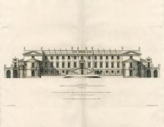 Vitruvius Britannicus Architectural Prints from 1715 by Colen Campbell Esq - Lonther Hall in Westmoreland, Lord Viscount Landsdale
