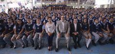 """El gobernador, Javier Duarte de Ochoa, en la inauguración del ciclo escolar 2015-2016, en la Escuela Secundaria General No. 5 """"Manuel R. Gutiérrez"""""""