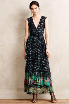 Anthropologie Maore Maxi Dress SP Small Petite Black Motif Plenty By Tracy Reese #PlentyByTracyReese #Maxi #Casual