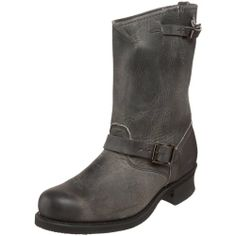 FRYE Men's Engineer 12R Boot, Charcoal, 8.5 M US - http://authenticboots.com/frye-mens-engineer-12r-boot-charcoal-8-5-m-us/