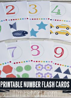 Games for toddlers with free flash cars. These free flash cards make it possible to entertain your little one while teach them number concepts Preschool Learning, Learning Activities, Kids Learning, Preschool Class, Toddler Activities, Teaching Ideas, Flashcards For Toddlers, Games For Toddlers, Toddler School