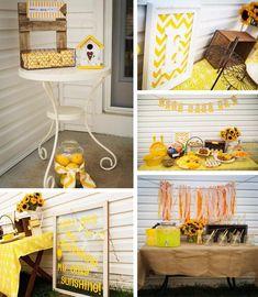 """You Are My Sunshine"" 3rd Birthday Party Yellow Sun Theme Kids Boy Girl Baby Shower"