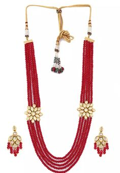 Shop Red Alloy Austrian Diamond Necklace Set Earrings 199011 online from huge collection of indian ethnic jewellery at Indianclothstore.com. Diamond Necklace Set, Tassel Necklace, Ethnic Jewelry, Jewellery, New Years Sales, Red Fabric, Color Shades, Indian Ethnic, Indian Outfits