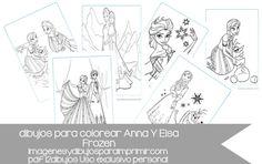 12 dibujos de Anna y elsa de frozen para colorear en pdf Anna Y Elsa, Free Coloring Pages, Frozen Coloring, Frozen Drawings, Awesome, Impressionism, Live