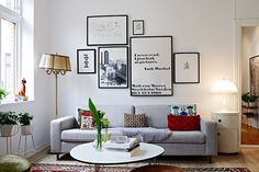 I like the sofa, the Panthella lamp and the Warhol qoute =) Hemnet Inspiration