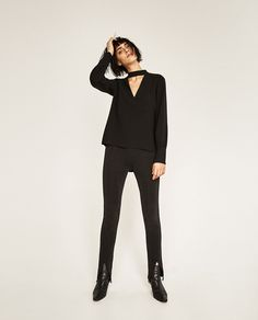 Image 1 of DOUBLE-SIDED TROUSERS from Zara