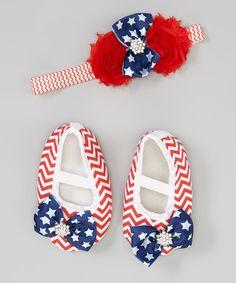 This USA Bootie & Headband Set - Infant by Little Gem is perfect! #zulilyfinds