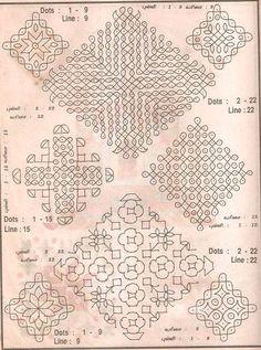 Vintage Muggu ( Rangoli ) designs Rangoli Borders, Rangoli Border Designs, Small Rangoli Design, Rangoli Patterns, Rangoli Designs Diwali, Rangoli Designs With Dots, Kolam Rangoli, Beautiful Rangoli Designs, Kolam Designs