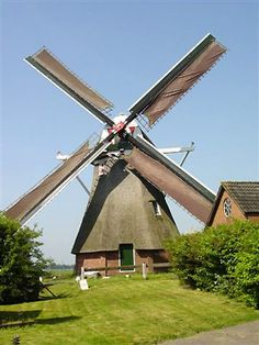 Polder mill Groote Polder-molen, Slochteren, the Netherlands