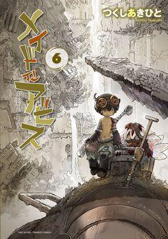 Portada del sexto tomo del Manga de Made in Abyss!!  A la venta el 29 de julio.