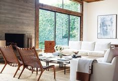 """Room with interesting chairs on One Kings Lane - Home of Jenni Kayne - """"Crush Worthy - A Modern Rustic Retreat"""" March 2016 Living Room Designs, Living Room Decor, Living Spaces, Living Rooms, Design Salon, Home Design, Blog Design, Design Art, Minimalist Home"""