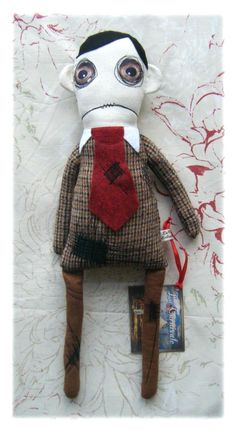 Fish Eyed Bill Rag Doll Soft Toy by thecircusmaster on Etsy