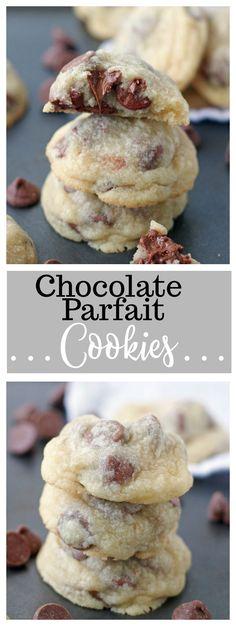 Chocolate Parfait Cookies