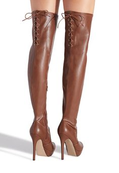 Would you like ladies boots and shoes? Ladies Shoes To Wear With Jeans. Brown High Heel Boots, Thigh High Boots Heels, Brown Boots, Fashion Heels, Fashion Boots, Bootie Boots, Shoe Boots, Women's Boots, Above Knee Boots