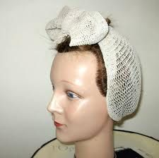 1940's hair snood turban