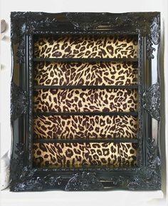 Black and Gold Leopard Nail Polish Rack