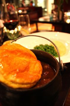 Large chunks of tender steak, mushrooms, onions and oodles of peppery gravy and a beautifully golden, light pastry. Tender Steak, Cape Town, Restaurants, Stuffed Mushrooms, Challenge, Ethnic Recipes, Desserts, Food, Diners