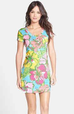 Lilly Pulitzer® 'Britton' Floral Print Cotton T-Shirt Dress