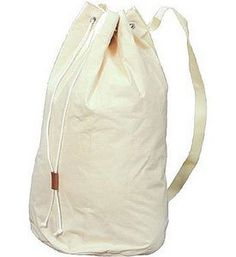 Canvas Duffle Bag - Extra Heavy Duty x Extra strong canvas duffle bag Sturdy shoulder strap Drawstring with leather closure Perfect for laundry, sports gear, travel or more Measures 28 x 14 Canvas Duffle Bag, Duffel Bag, Buy Canvas, Large Canvas, Canvas Laundry Bag, Laundry Bags, Laundry Room, Laundry Storage, Thing 1