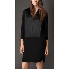Burberry Silk Cady Shirt Dress