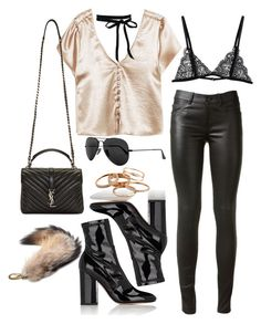 """""""Untitled #4442"""" by lilaclynn ❤ liked on Polyvore featuring Yves Saint Laurent, Valentino, Ray-Ban, Kendra Scott and Isabel Marant"""