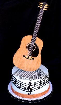 Guitar Cake - Cake by Cuteology Cakes