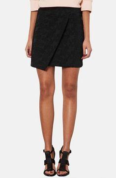 Floral Jaquard Skirt - topshop