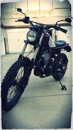 I really love this dazzling scrambler motorcycle accessories Bobber Bikes, Scrambler Motorcycle, Dirt Bikes, Custom Motorcycles, Cars And Motorcycles, Mechanical Horse, Honda Dominator, Bike Trails, Bike Design