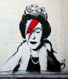 Banksy's latest creation. Banksy Graffiti, Stencil Graffiti, Street Art Banksy, Graffiti Artwork, Stencil Art, Bansky, Stenciling, Banksy Canvas, Music Graffiti