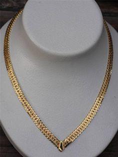 14k Kt Yellow Gold V Shape Herringbone 18 0 Quot Chain